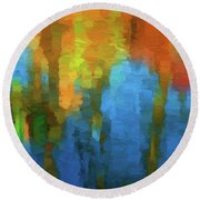 Color Abstraction Xxxi Round Beach Towel by David Gordon