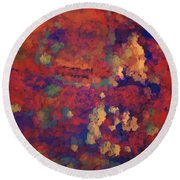 Color Abstraction Xxxv Round Beach Towel