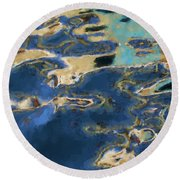 Color Abstraction Xxxvii - Painterly Round Beach Towel by David Gordon