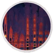 Color Abstraction Xxxviii Round Beach Towel by Dave Gordon