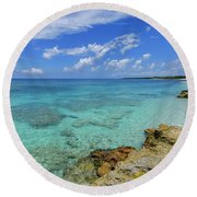 Color And Texture Round Beach Towel