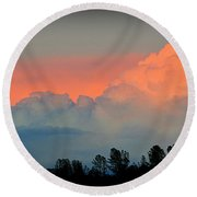 Round Beach Towel featuring the photograph Color Burst by AJ Schibig