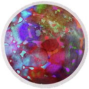 Color Burst Round Beach Towel by AugenWerk Susann Serfezi