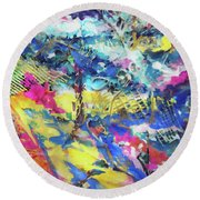 Color Burst Dynamic Round Beach Towel