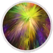 Color Burst Round Beach Towel by Greg Moores