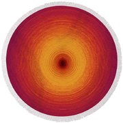 Color Circles Round Beach Towel