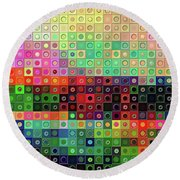 Round Beach Towel featuring the digital art Color Coded by Wendy J St Christopher