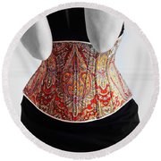 Round Beach Towel featuring the photograph Color Corset by Andrey  Godyaykin