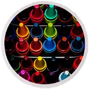 Color Creation Round Beach Towel by Colleen Coccia
