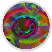 Round Beach Towel featuring the digital art Color Dome by Lynda Lehmann
