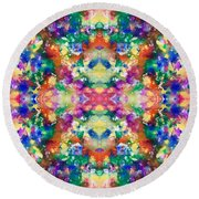 Color Explosion Round Beach Towel