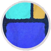 Round Beach Towel featuring the painting Color Fields by Jutta Maria Pusl