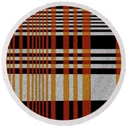 Color Grid Round Beach Towel
