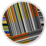 Round Beach Towel featuring the digital art Color In Black And White by Michelle Calkins