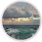 Color In Maui Round Beach Towel