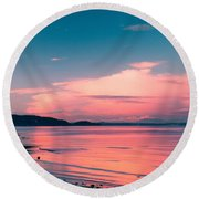 Color Me Pink Round Beach Towel