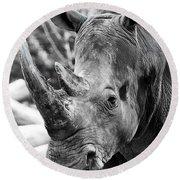 Color Me Rhino Round Beach Towel by John Haldane