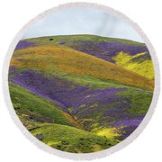Round Beach Towel featuring the photograph Color Mountain I by Peter Tellone