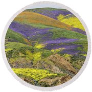 Round Beach Towel featuring the photograph Color Mountain II by Peter Tellone