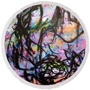 Color Of Lifes Round Beach Towel