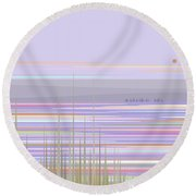 Color Of Morning Round Beach Towel