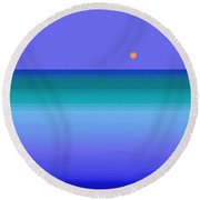 Round Beach Towel featuring the digital art Color Of Water by Val Arie