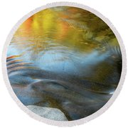 Color On The Swift River Nh Round Beach Towel by Michael Hubley