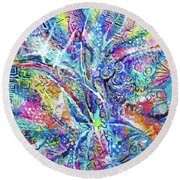 Color Play 1 Round Beach Towel