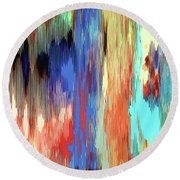 Color Shift Round Beach Towel