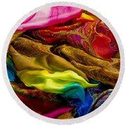 Color Storm Round Beach Towel