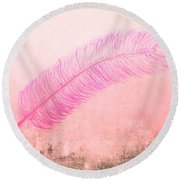 Color Trend Feather In The Wind Round Beach Towel