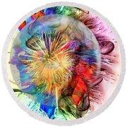 Color Universum By Nico Bielow Round Beach Towel