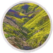 Round Beach Towel featuring the photograph Color Valley by Peter Tellone