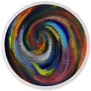 Vortex Of Passion Round Beach Towel