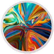 Color Wave 3 Round Beach Towel