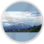 Round Beach Towel featuring the photograph Colorado 2006 by Jerry Battle