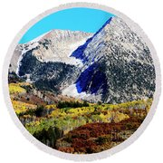 Colorado Autumn 2016 West Elk Mountains Round Beach Towel