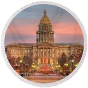 Colorado Capital Round Beach Towel