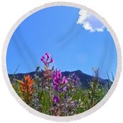 Round Beach Towel featuring the photograph Colorado Colors by Alan Johnson