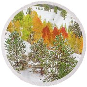 Colorado Is Stunningly Beautiful. Here's One Example Among Countless Others.  Round Beach Towel