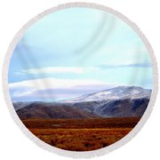 Colorado Mountain Vista Round Beach Towel