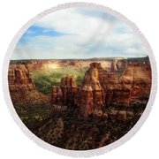Colorado National Monument Round Beach Towel by Marilyn Hunt