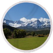 Colorado Ranch Round Beach Towel