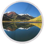 Colorado Reflections Round Beach Towel by Steve Stuller