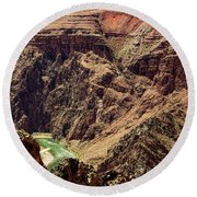 Colorado River From The South Kaibab Trail Round Beach Towel