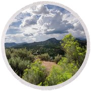Round Beach Towel featuring the photograph Colorado Summer by Margaret Pitcher
