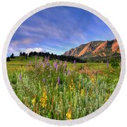 Colorado Wildflowers Round Beach Towel