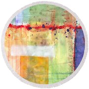 Colorfields Watercolor Round Beach Towel