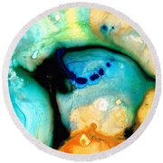 Colorful Abstract Art - The Calling - By Sharon Cummings Round Beach Towel
