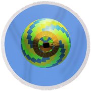 Colorful Abstract Hot Air Balloon Round Beach Towel